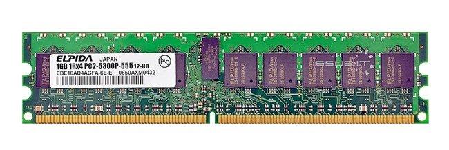 Memory RAM 1x 1GB Samsung ECC REGISTERED DDR2  667MHz PC2-5300 RDIMM   EBE10AD4AGFA-6E-E