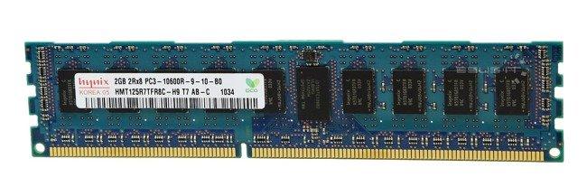 Memory RAM 1x 2GB Hynix ECC REGISTERED DDR3  1333MHz PC3-10600 RDIMM | HMT125R7TFR8C-H9