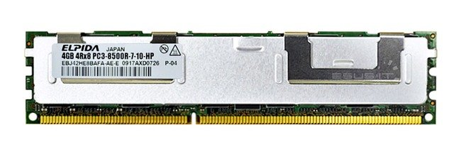 Memory RAM 1x 4GB ELPIDA ECC REGISTERED DDR3  1066MHz PC3-8500 RDIMM | EBJ42HE8BAFA-AE-E