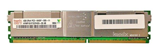 Memory RAM 1x 4GB Hynix ECC FULLY BUFFERED DDR2 800MHz PC2-6400 FBDIMM | HYMP151F72CP4D3-S5