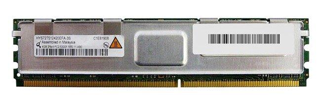 Memory RAM 1x 4GB QIMONDA ECC FULLY BUFFERED DDR2 667MHz PC2-5300 FBDIMM | HYS72T512420EFA-3S-C