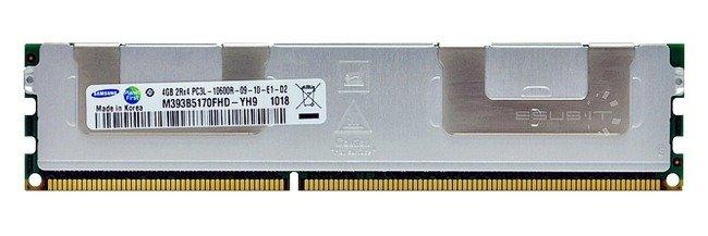 Memory RAM 1x 4GB Samsung ECC REGISTERED DDR3  1333MHz PC3-10600 RDIMM | M393B5170FHD-YH9