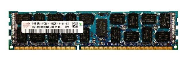 Memory RAM 1x 8GB Hynix ECC REGISTERED DDR3  1333MHz PC3-10600 RDIMM | HMT31GR7CFR4A-H9