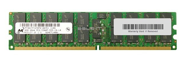 Memory RAM 1x 8GB Micron ECC REGISTERED DDR2  667MHz PC2-5300 RDIMM   MT36HTF1G72PY-667