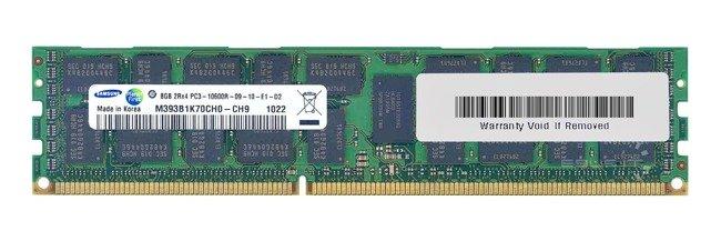 Memory RAM 1x 8GB Samsung ECC REGISTERED DDR3  1333MHz PC3-10600 RDIMM   M393B1K70CH0-CH9